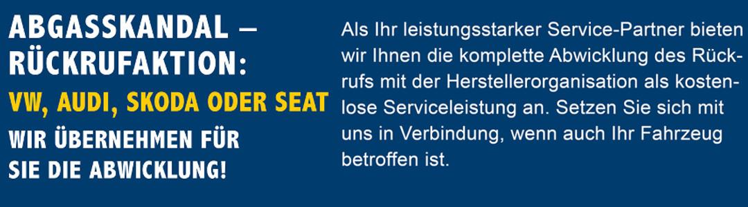 VW Abgasskandal Rueckruf